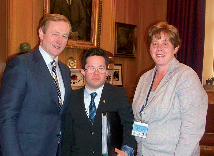 An Taoiseach, Enda Kenny, Cian O'Connor & Yvette Ebbs