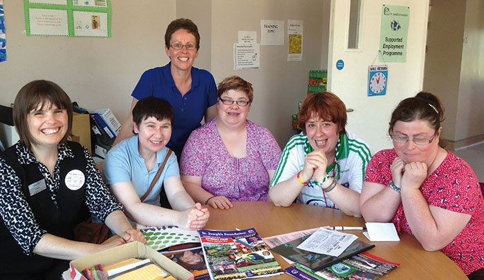 Pictured at St. Joseph's Foundation in Charleville, Cork, are: Rebecca Bourke, Sharon Healy, Mairead Forde, Sharon O'Brien and Carmel Hynes, with their job coach Mary Hayes.