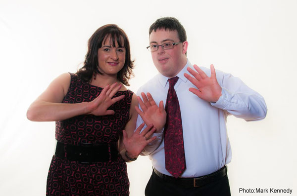 Lucy and Darragh jazz hands