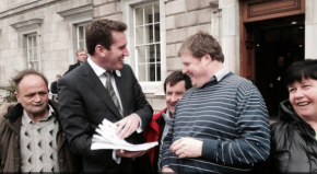 The lads meet a minister